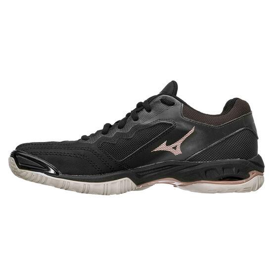 Mizuno Wave Phantom 2 Womens Netball Shoes, Black, rebel_hi-res