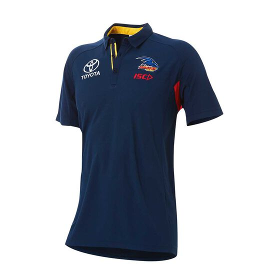 Adelaide Crows 2018 Mens Media Polo Shirt Navy S, Navy, rebel_hi-res