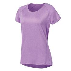 Ell & Voo Womens Sophie Workout Tee Purple XS, Purple, rebel_hi-res