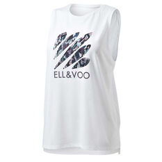 Ell & Voo Womens Taylor Muscle Tank White XS, White, rebel_hi-res