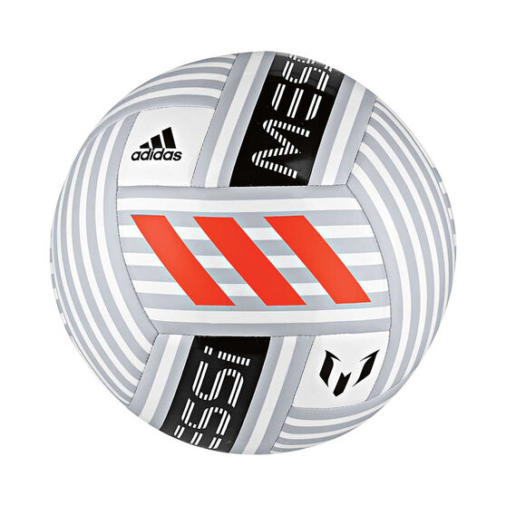 9a05cc58f87 adidas Messi Q4 Soccer Ball White   Grey 5, White   Grey, rebel hi-