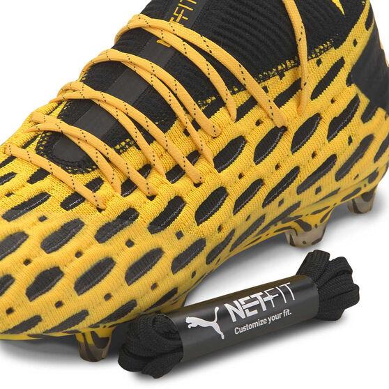 Puma Future 5.1 Netfit Football Boots, Yellow / Black, rebel_hi-res