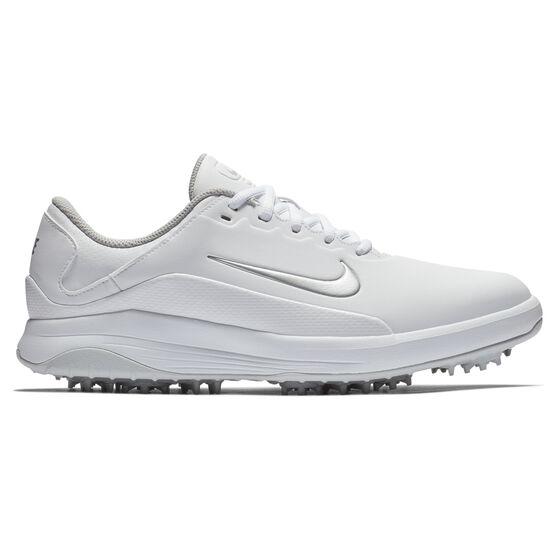 Nike Vapor Mens Golf Shoes, White/Silver, rebel_hi-res
