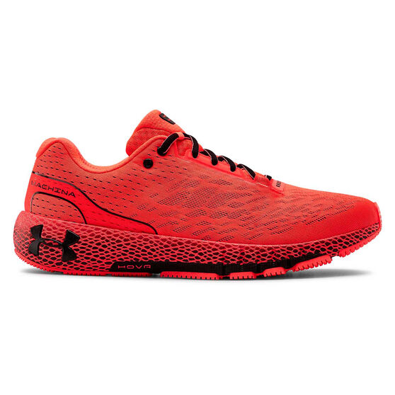 Under Armour HOVR Machina Mens Running Shoes, Red / Black, rebel_hi-res