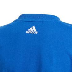 Adidas Boys Essential Logo Tee, Blue, rebel_hi-res