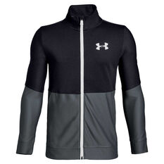 Under Armour Boys Prototype Full Zip Training Jacket Black / Grey XS, Black / Grey, rebel_hi-res