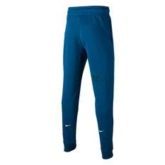 Nike Boys Sportswear Swoosh French Terry Track Pants, Blue, rebel_hi-res