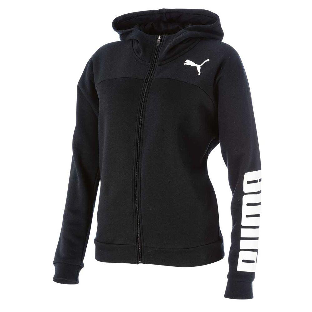 82a488fb7671 Puma Womens Urban Sports Logo Hoodie Black   White XS Adult