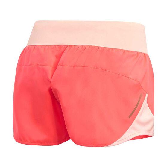 adidas Womens 3-Stripes Run It Shorts, Orange, rebel_hi-res