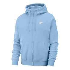 Nike Mens Sportswear Club Fleece Full-Zip Hoodie Blue XS, Blue, rebel_hi-res
