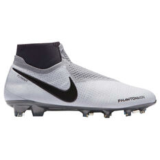 Nike Phantom Vision Elite Dynamic Fit Mens Football Boots White / Grey US 7, White / Grey, rebel_hi-res