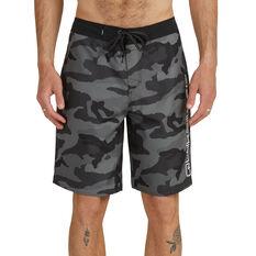Quiksilver Mens Everyday Cutdown Board Shorts Black/Camo 30, Black/Camo, rebel_hi-res