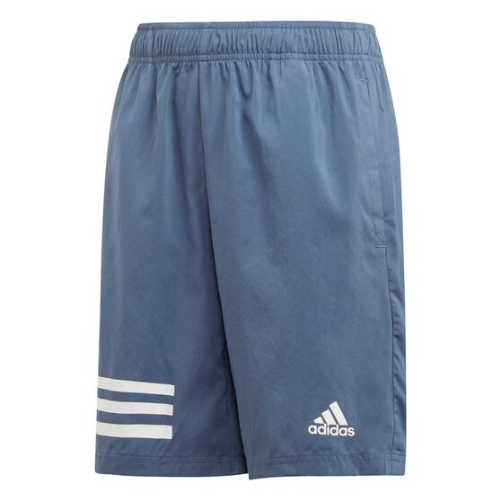 adidas Boys 3-Stripes Shorts, Blue / White, rebel_hi-res