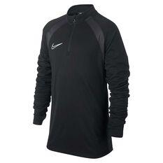 Nike Boys Dri-FIT Academy Football Drill Top Black / Grey XS, Black / Grey, rebel_hi-res