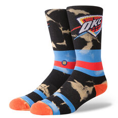 Stance Mens Oklahoma City Thunder Acid Wash Socks Multi M, Multi, rebel_hi-res