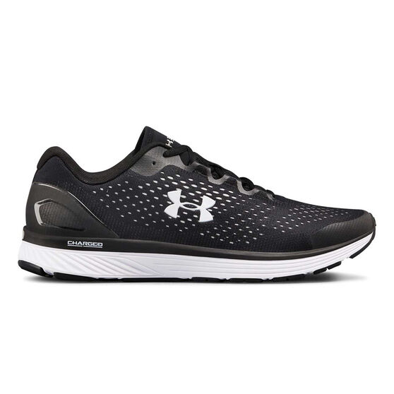 Under Armour Charged Bandit 4 Mens Running Shoes, Black / White, rebel_hi-res