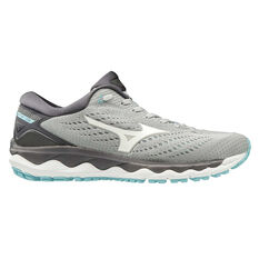 Mizuno Wave Sky 3 Womens Running Shoes Grey / Blue US 6, Grey / Blue, rebel_hi-res