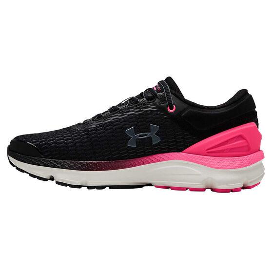 Under Armour Charged Intake 3 Womens Running Shoes Black / Pink US 6.5, Black / Pink, rebel_hi-res