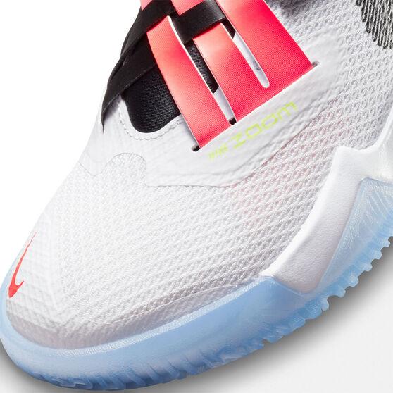 Nike Zoom Flight 2 Kids Basketball Shoes, White, rebel_hi-res