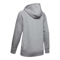 Under Armour Womens Rival Fleece Sportstyle Graphic Hoodie Grey XS, Grey, rebel_hi-res