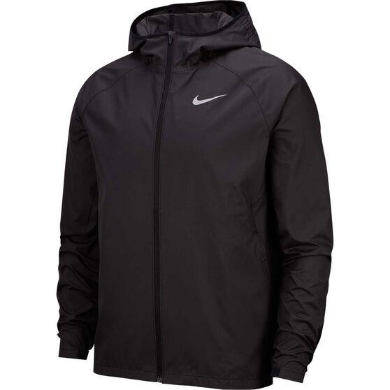 Nike Mens Essential Hooded Running Jacket, Black, rebel_hi-res