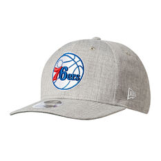 Philadelphia 76ers New Era 9FIFTY Cap Grey M / L, Grey, rebel_hi-res