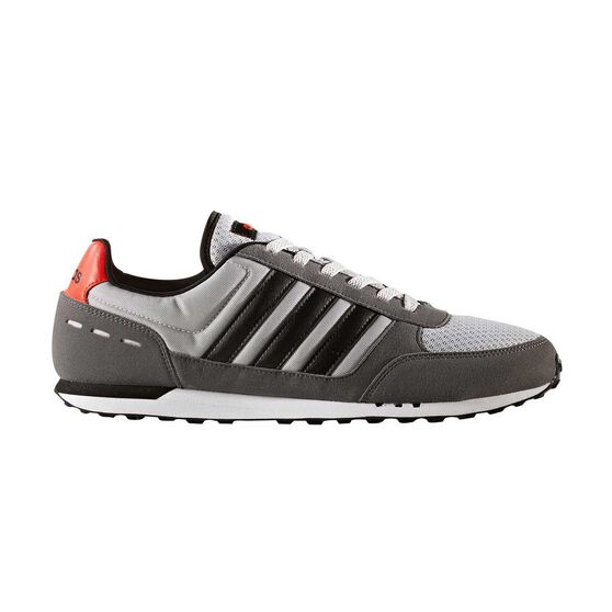 adidas Neo City Racer Mens Casual Shoes Grey   Black US 8  7b3a92af0