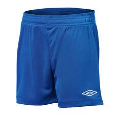 Umbro League Kids Football Shorts Blue XS, Blue, rebel_hi-res
