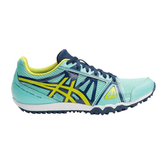 Asics Hyper Rocketgirl XCS Womens Track and Field Shoes Blue / Yellow US 11, Blue / Yellow, rebel_hi-res