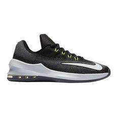 Nike Air Max Infuriate Boys Basketball Shoes Black / White US 4, Black / White, rebel_hi-res