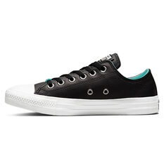 Converse Chuck Taylor All Star Leather HD Fusion Low Womens Casual Shoes Black US 6, Black, rebel_hi-res