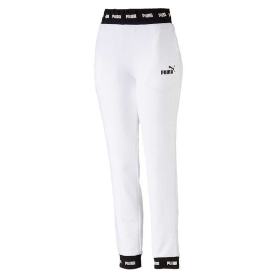 991eb565f Puma Womens Amplified Knitted Track Pants, White, rebel_hi-res