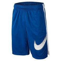 Nike Boys Dry Dominate Training Shorts Blue / White XS, Blue / White, rebel_hi-res
