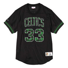 Boston Celtics Larry Bird 86 Mens Jersey Black S, Black, rebel_hi-res