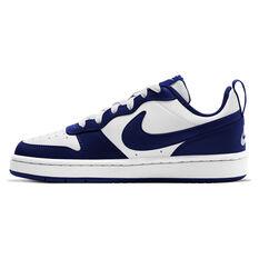 Nike Court Borough Low 2 Kids Casual Shoes White/Navy US 4, White/Navy, rebel_hi-res