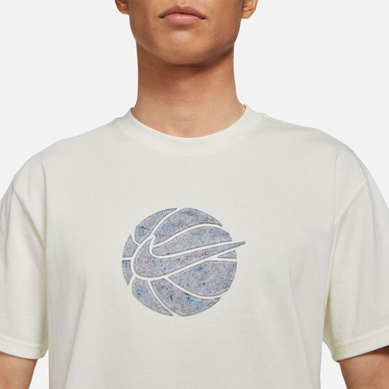 Nike Mens Cosmic Unity Swoosh Basketball Tee, White, rebel_hi-res