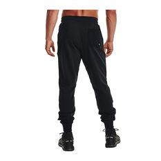 Under Armour Mens Rival Terry Scribble Track Pants, Black, rebel_hi-res