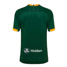 Kangaroos 2019 Mens Pro Home Jersey Green / Yellow S, Green / Yellow, rebel_hi-res