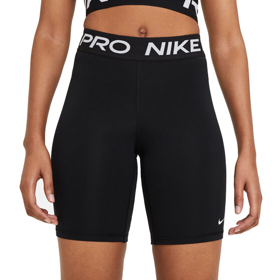 Nike Pro Womens 365 8in Shorts, Black, rebel_hi-res