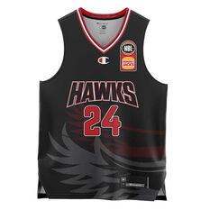 Illawarra Hawks  Dang Adel Home 20/21 Kids Home Jersey Black 4, Black, rebel_hi-res