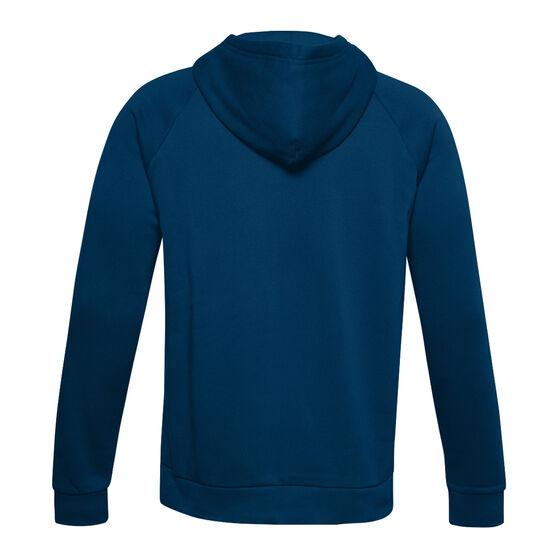 Under Armour Mens Rival Logo Fleece Hoodie, Blue, rebel_hi-res