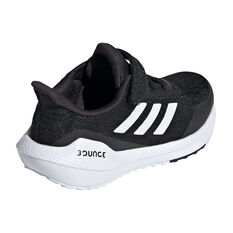 adidas EQ21 Run Kids Running Shoes, Black/White, rebel_hi-res