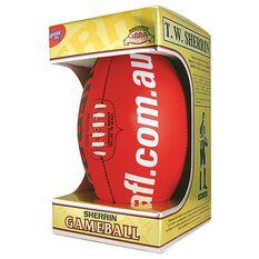 Sherrin Official AFL Game Ball Red, Red, rebel_hi-res