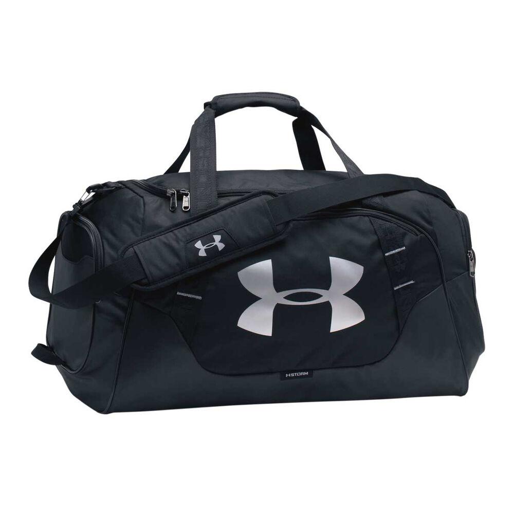 Under Armour Undeniable 3.0 Medium Duffel Bag Black   Silver  228cf6365ef83