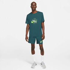 Nike Mens Dri-FIT Miller Wild Run Running Tee Teal S, , rebel_hi-res