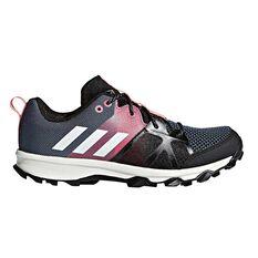 adidas Kanadia 8.1 Kids Running Shoes White / Pink US 1, White / Pink, rebel_hi-res