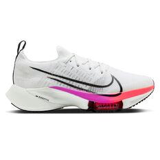 Nike Air Zoom Tempo Next% Mens Running Shoes White/Crimson US 7, White/Crimson, rebel_hi-res