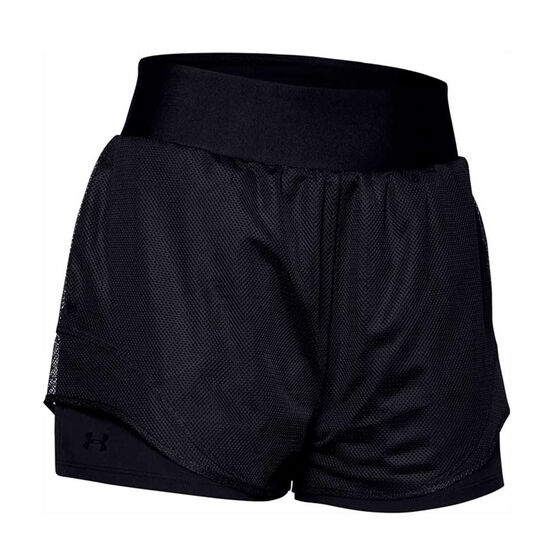 Under Armour Womens Warrior Mesh Shorts, Black, rebel_hi-res