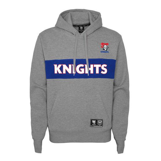 Newcastle Knights 2021 Kids Hoodie, Grey, rebel_hi-res