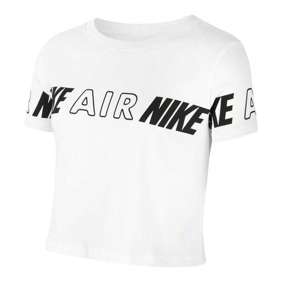 Nike Air Girls Cropped Tee, White/Black, rebel_hi-res